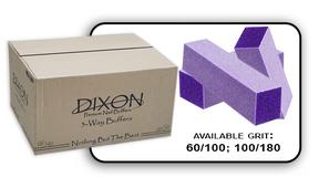 3 Way Buffer block Purple-White Grit 100/180 Case 500pcs