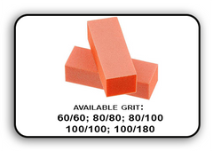 Buffer Block 3 Way - Orange/White -  100/180 Grit (Pack/20 pcs)