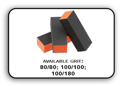 Buffer Block 3 Way - Orange/Black -  100/100 Grit (Pack/20 pcs)