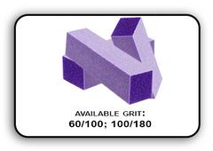3 Way Buffer block Purple-White Grit 100/180 Pack of 20pcs