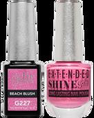 Gel II + Matching Extended Shine Polish - G227 & ES227 - BEACH BLUSH