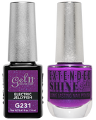 Gel II + Matching Extended Shine Polish, ELECTRIC JELLYFISH #G231 - #ES231
