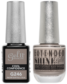 Gel II + Matching Extended Shine Polish - G246 & ES246 - COOL CONFIDENCE