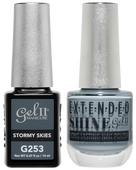 Gel II + Matching Extended Shine Polish, STORMY SKIES #G253 - #ES253