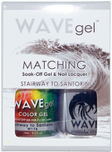 WaveGel Matching S/O Gel & Nail Lacquer - STAIRWAY TO SANTORINI .5oz W176