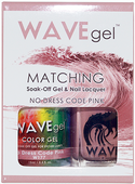 WaveGel Matching S/O Gel & Nail Lacquer - NO DRESS CODE PINK .5oz W177