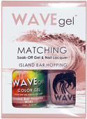 WaveGel Matching S/O Gel & Nail Lacquer - ISLAND BAR HOPPING .5oz W182