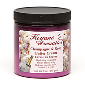 Keyano Manicure & Pedicure, Champagne & Rose Butter Cream 8 oz.
