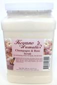 Keyano Manicure & Pedicure, Champagne & Rose Scrub 80 oz