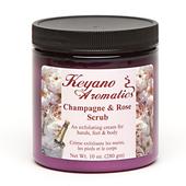 Keyano Manicure & Pedicure, Champagne & Rose Scrub 10oz