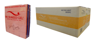 Bio Seaweed Gel - DMA Disposable Mini Buffer - Orange Purple 800/100 Grit - Case/800pc
