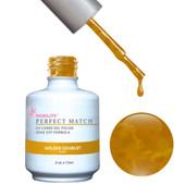PERFECT MATCH Gel Polish + Lacquer - PMS22 GOLDEN DOUBLET