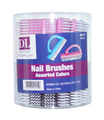 Manicure Brush Top Grip - Box of 36 Assorted Colors