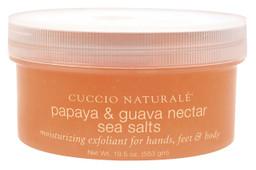 Cuccio Papaya & Guava Nectar Sea Salts 19.5 oz