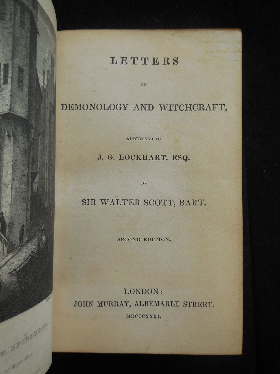 LETTERS ON DEMONOLOGY & WITCHCRAFT Walter Scott 1831 Occult Supernatural Stories