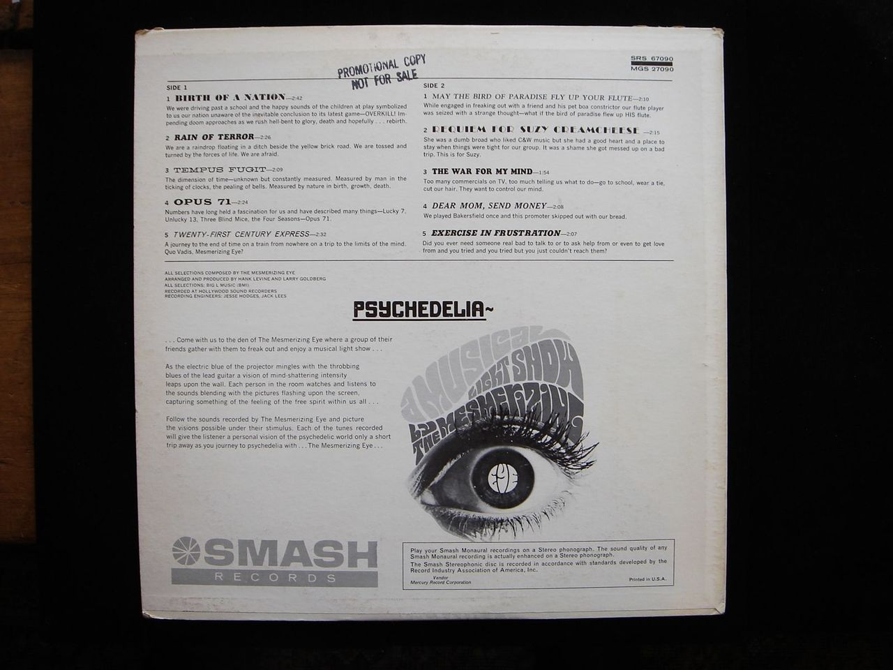 LP: THE MESMERIZING EYE - Psychedelia: A Musical Light Show - 1967