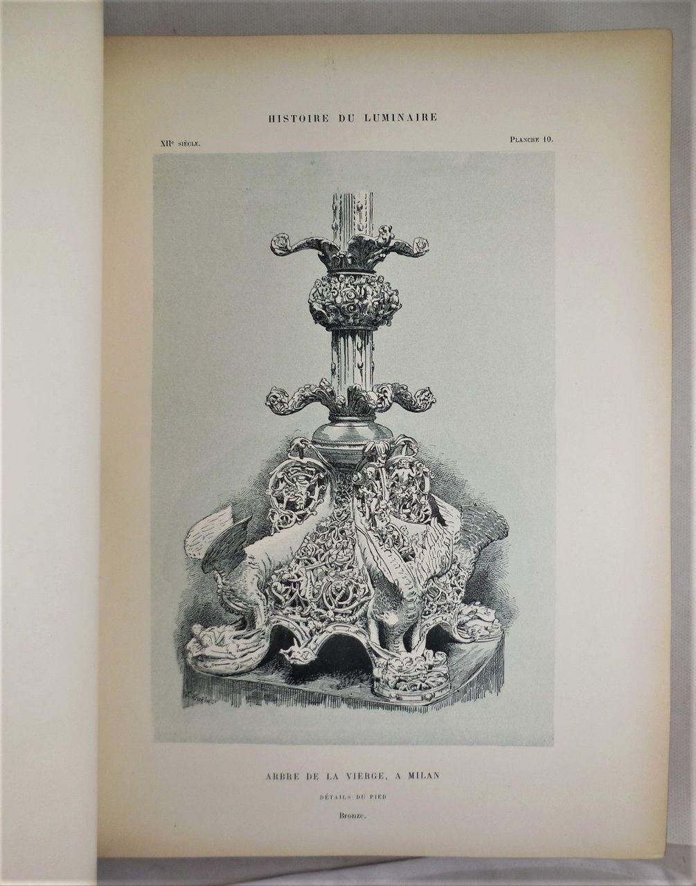 HISTOIRE DU LUMINAIRE Henry Rene D'Allemagne 1891 [1st Ed] Fine Binding Lighting