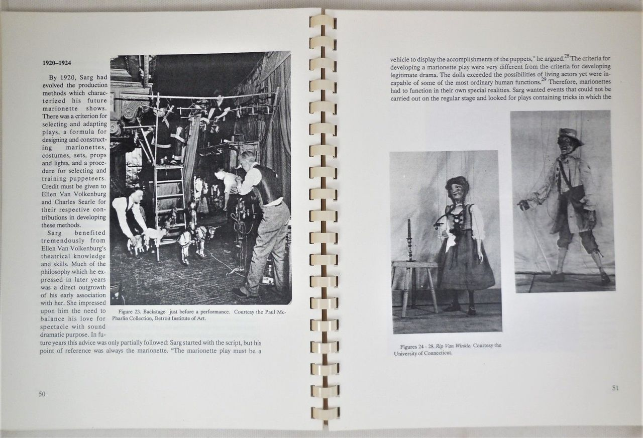 TONY SARG: PUPPETEER IN AMERICA 1915-1942, by Tamara Robin Hunt - 1988
