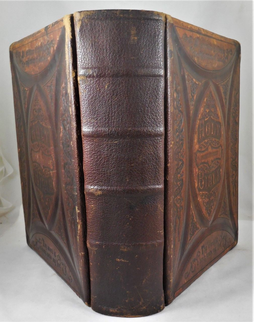 THE LATEST ILLUSTRATED POLYGLOT FAMILY BIBLE - 1872 [Custom Binding]