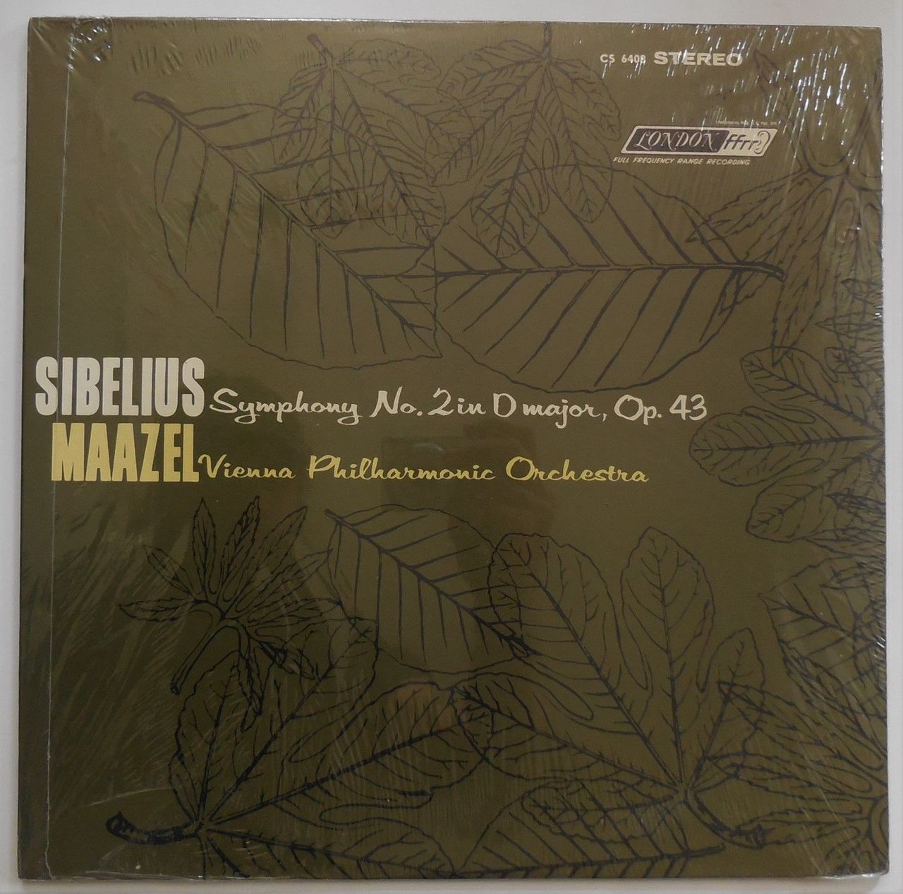 LP: Jean Sibelius' SYMPHONY No.2 in D Maj, Op.43, by Vienna Philharmonic - 1963 [SEALED]