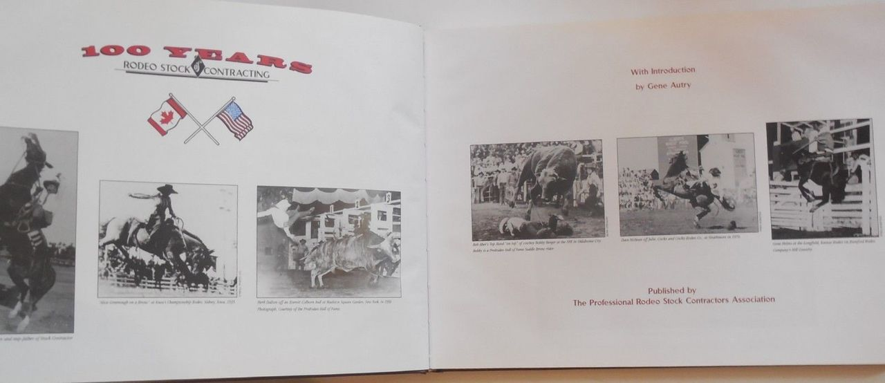 100 YEARS OF RODEO STOCK CONTRACTING, by Victoria Carlyle Weiland - 1997