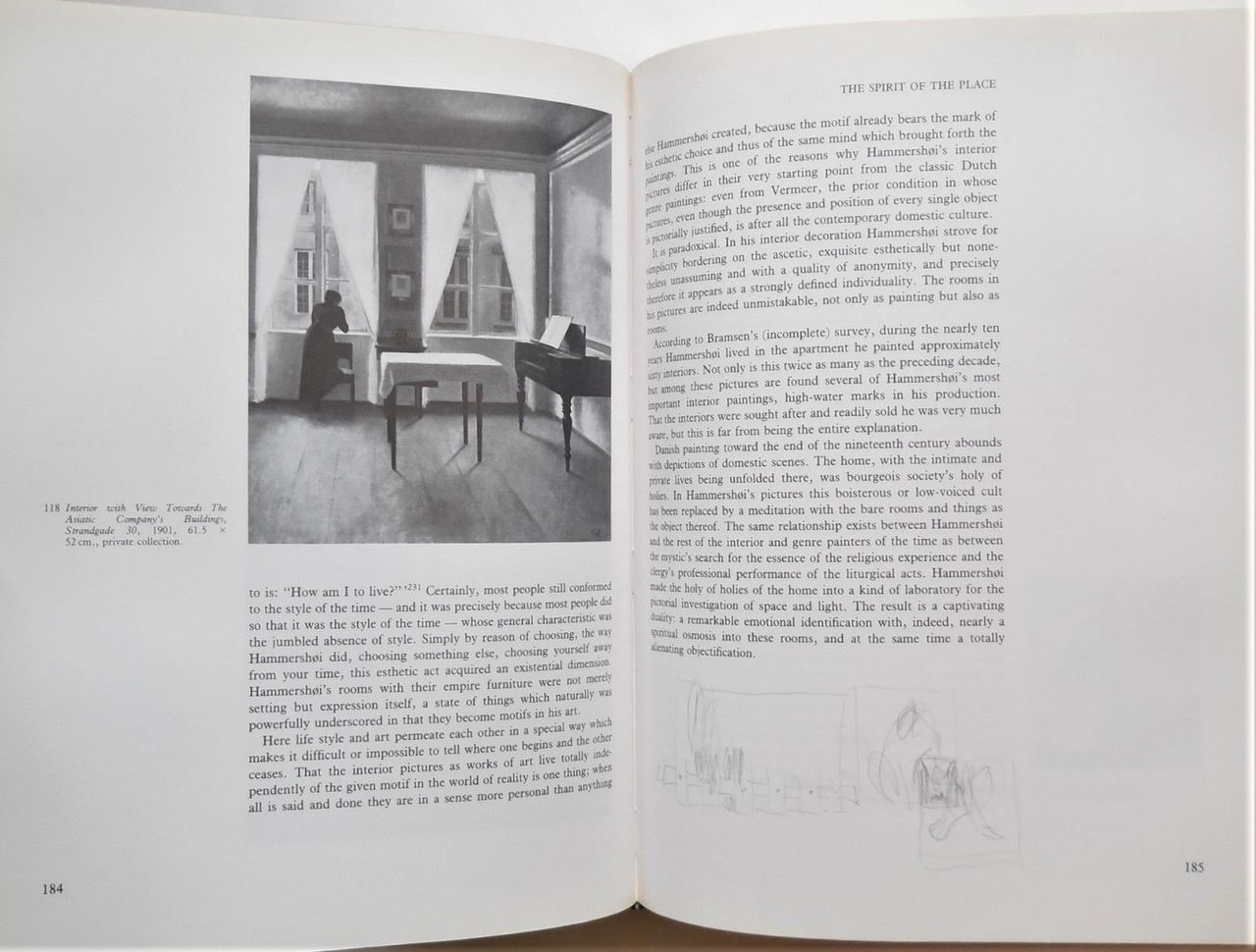 VILHELM HAMMERSHOI AND DANISH ART AT THE TURN OF THE CENTURY, by Poul Vad; Kenneth Tindall (tr) - 1992