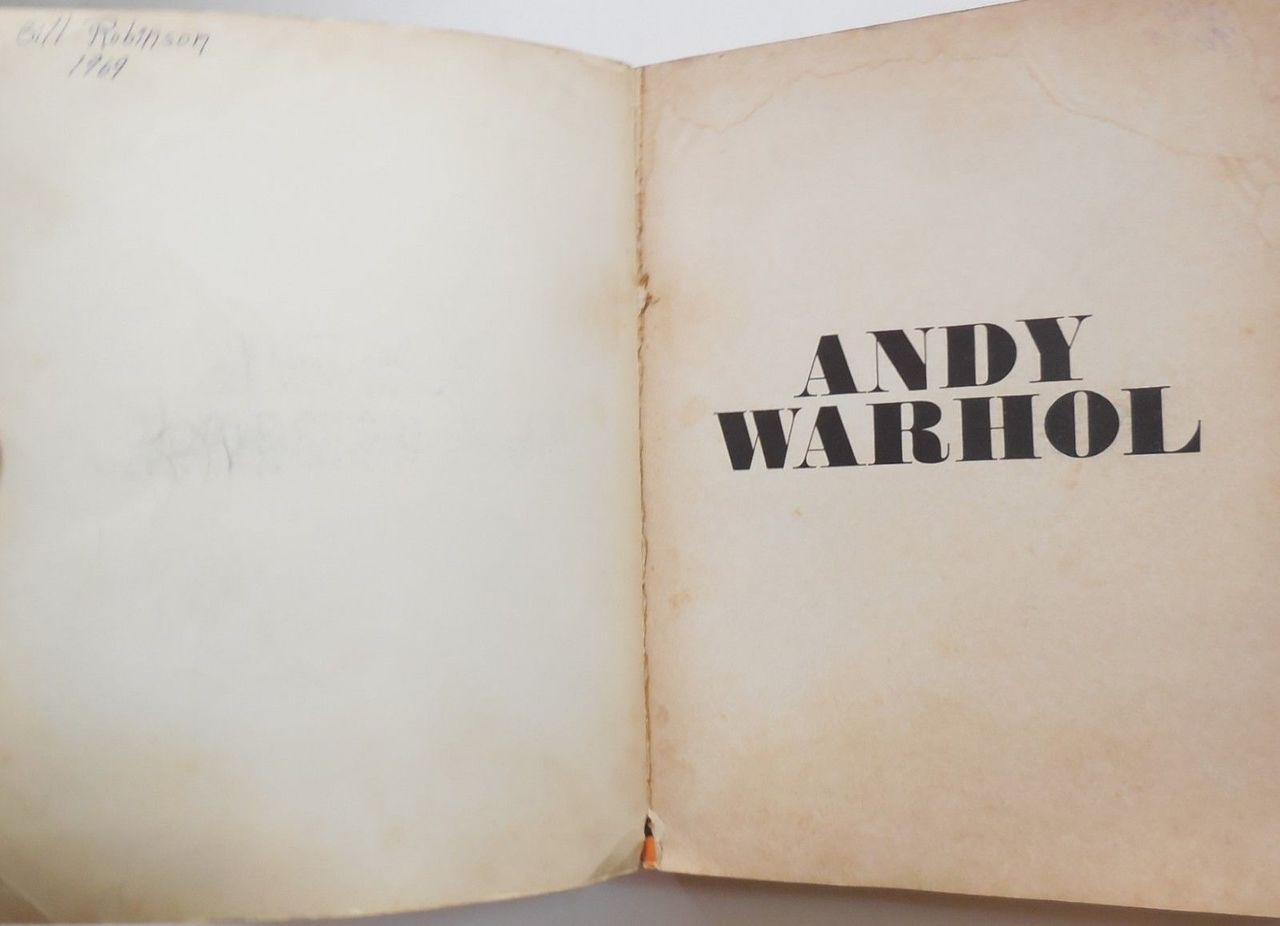 ANDY WARHOL'S STOCKHOLM CATALOGUE - 1969 [2nd Ed]