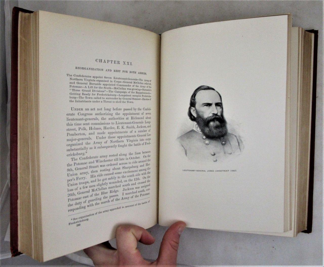 FROM MANASSAS TO APPOMATTOX, James Longstreet - 1896 [1st Ed]