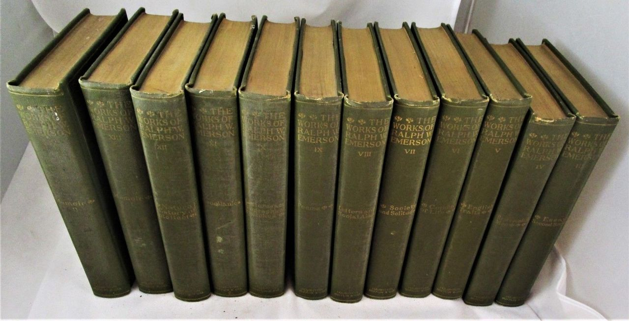 THE WORKS OF RALPH WALDO EMERSON - 1883/7 [12 Vols] Essays Lectures Set
