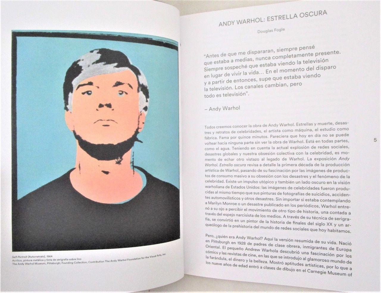 ANDY WARHOL: ESTRELLA OSCURA - 2017 Dark Star Exhibit Catalogue Museo Jumex VG+