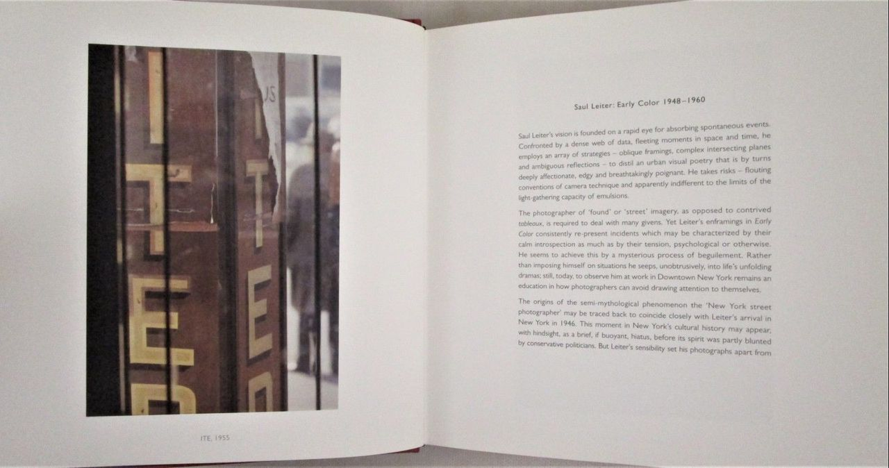 SAUL LEITER: EARLY COLOR - 2006 [Signed 1st Ed] Street Photography Kodachrome NF