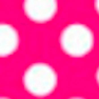 "Fashion Pink Polka Dots 15"" x 5yd"