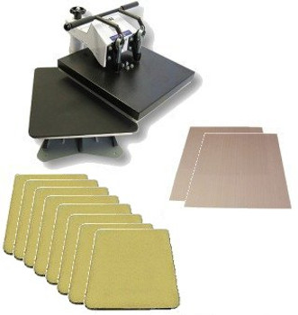 The Tile Master heat press with Stand and Ceramic setup