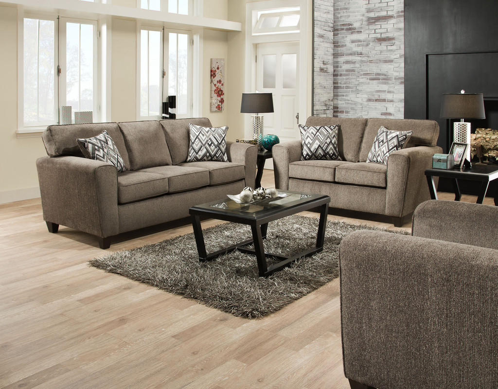 Cornell Pewter sofa & Love seat
