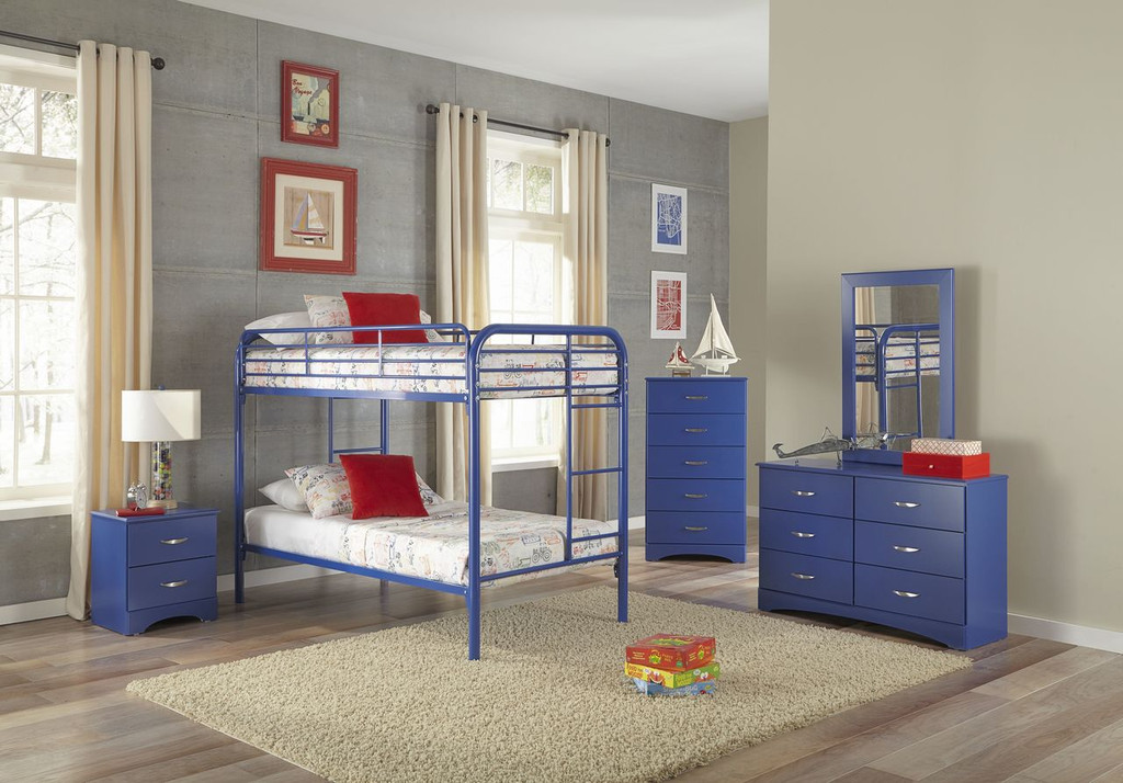 TWIN BLUE BUNK BED