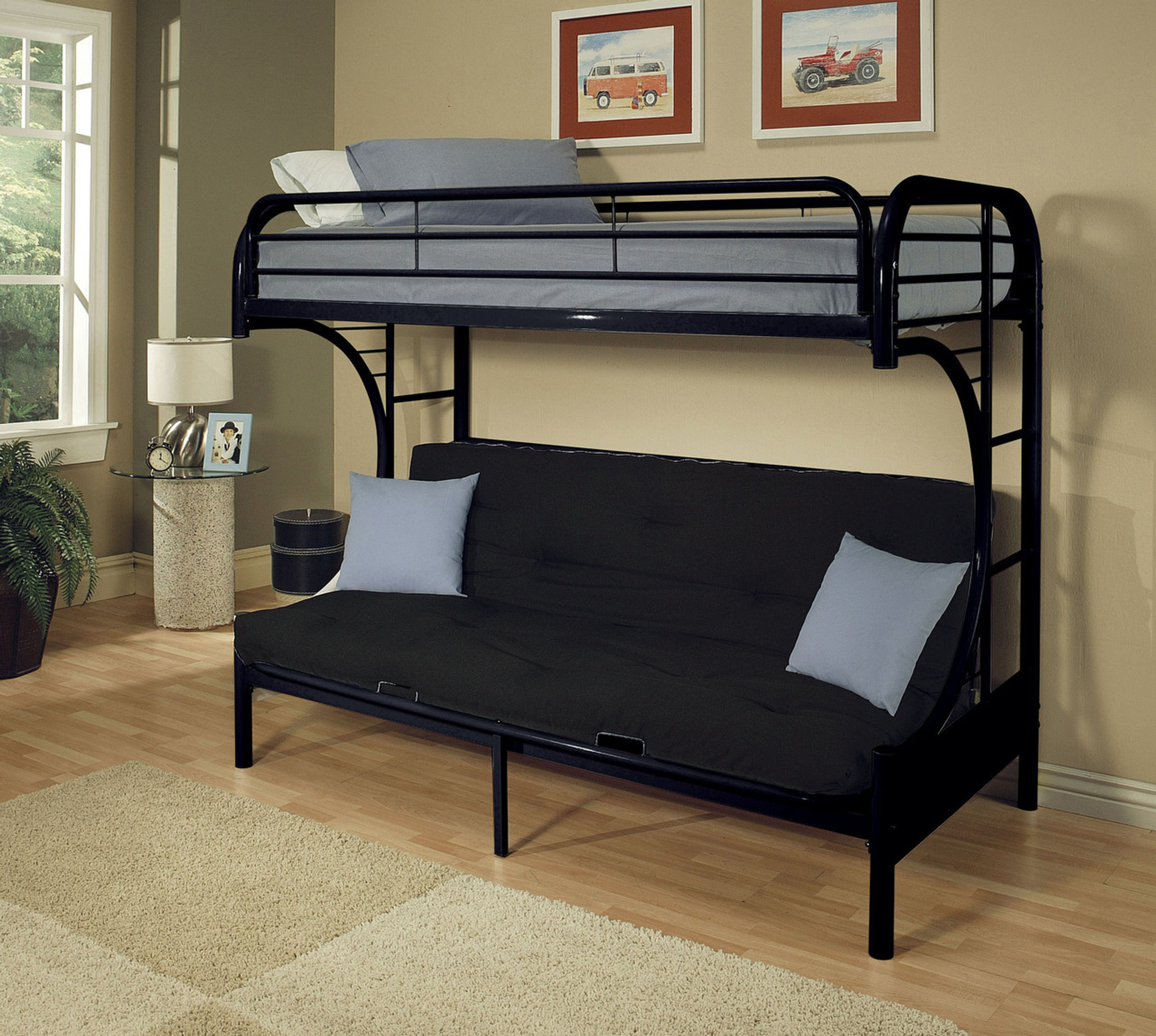 Black Futon Bunk Bed