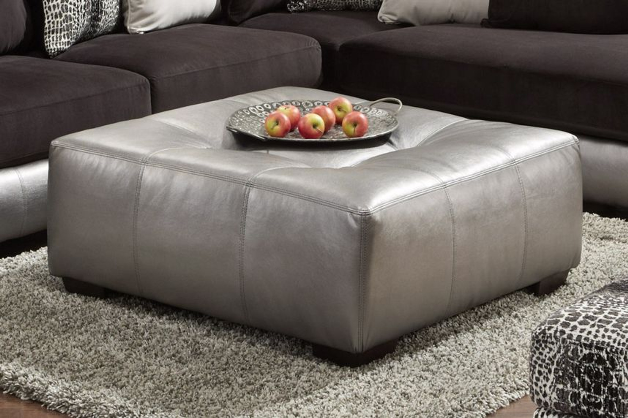 OTTOMAN SHIMMER PEWTER