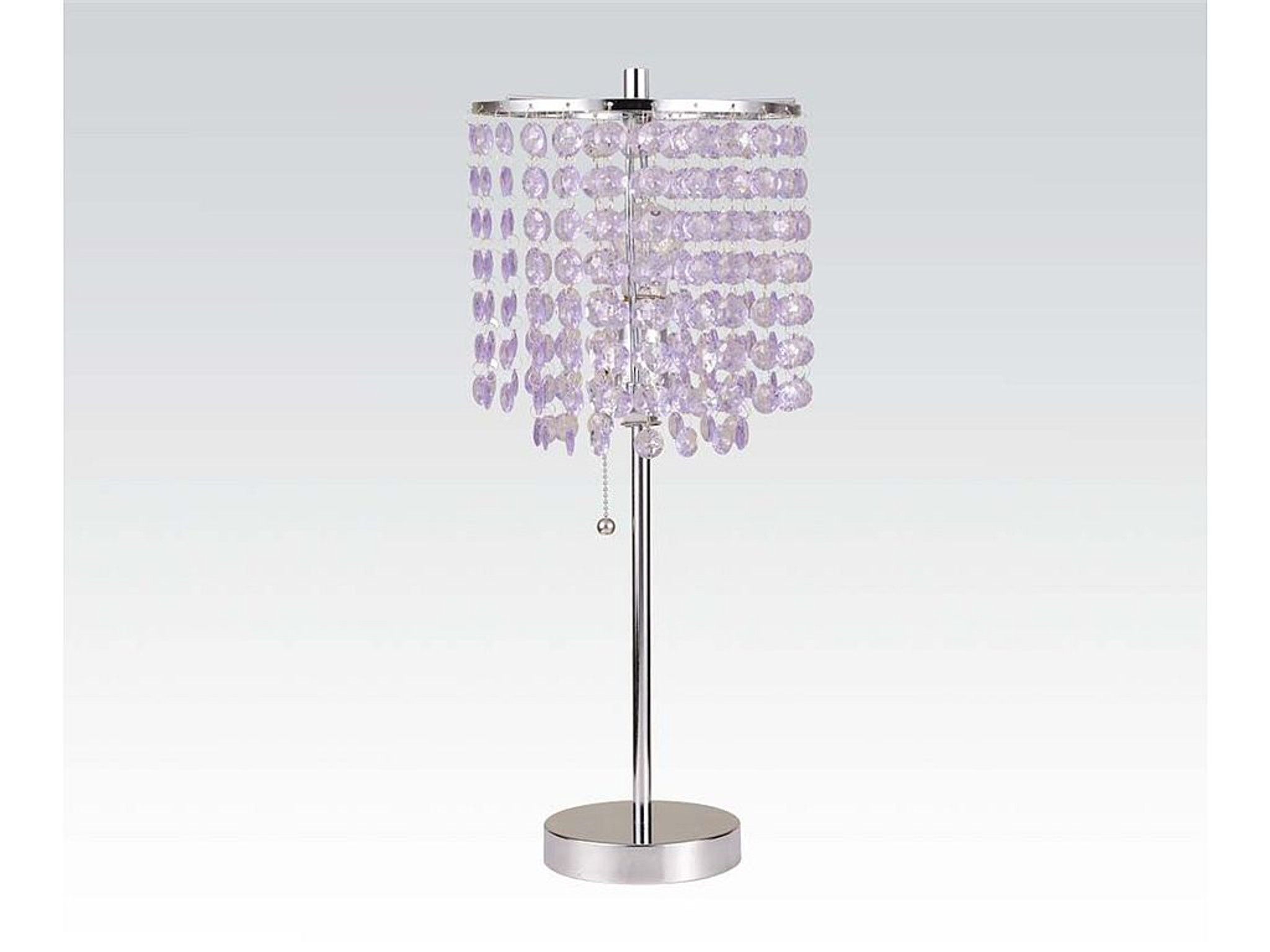 Lavender crystal table lamp aloadofball Image collections
