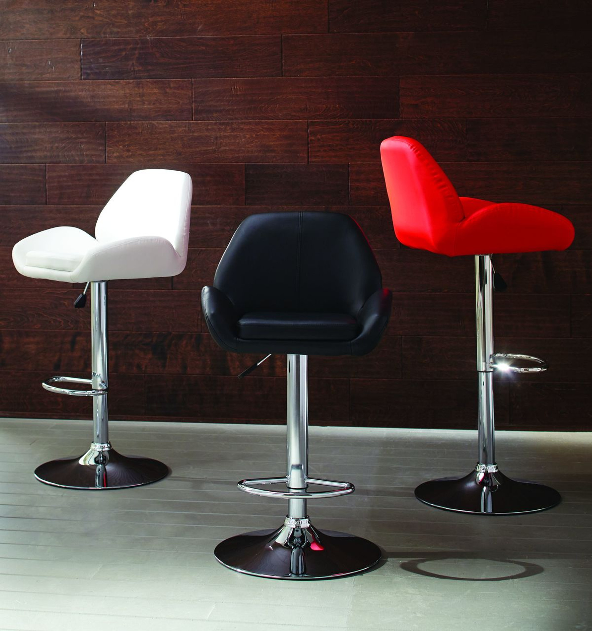 CHROME ADJ BAR STOOL - (assorted colors)