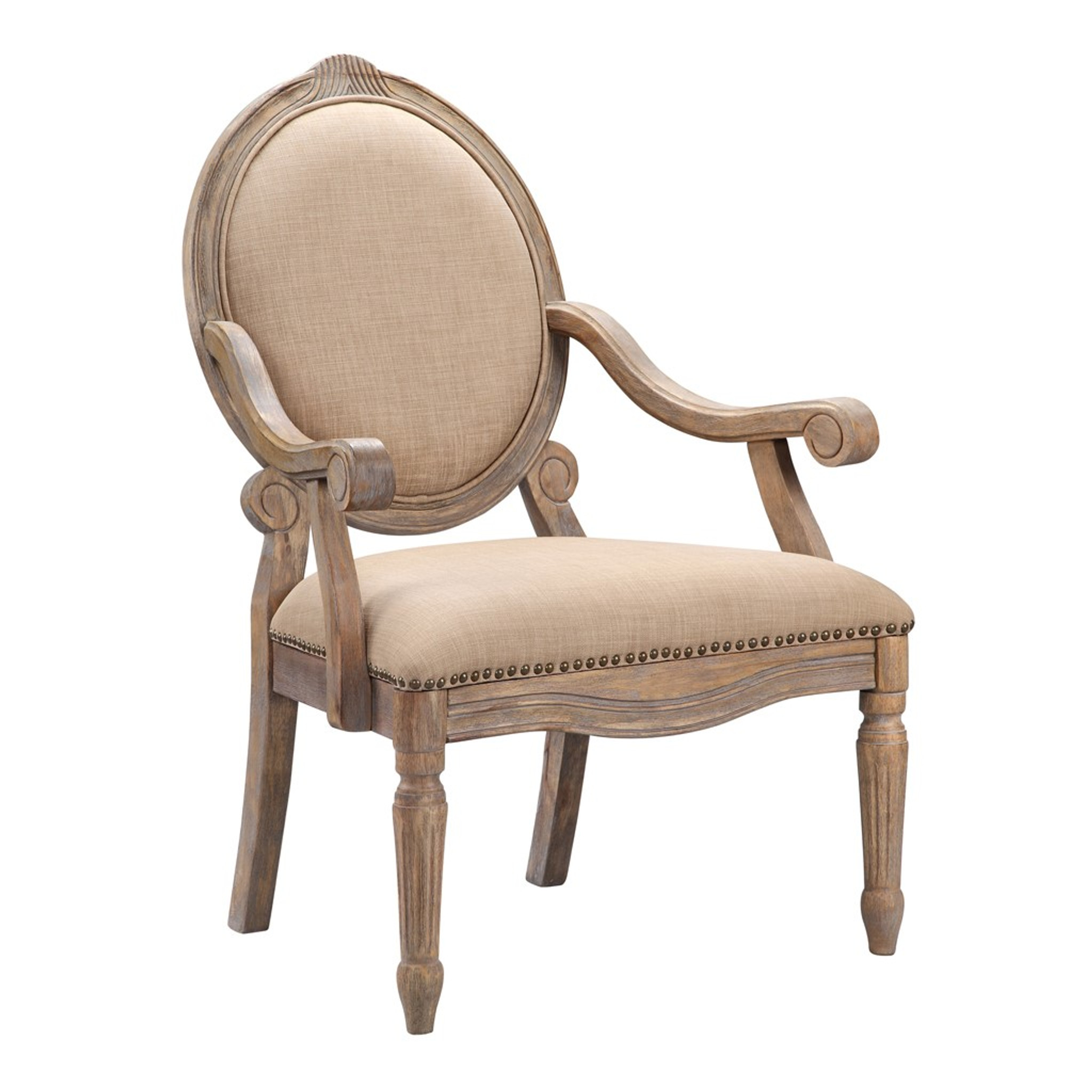 BEIGE BRENTWOOD ARM CHAIR