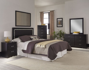 SWAG QUEEN 3PC SET-LED Headboard