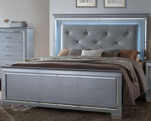 LED LIGHTED LILLIAN QUEEN OR KING BED
