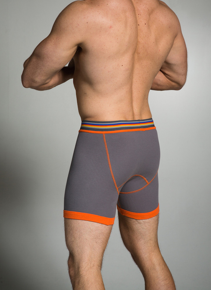 The Ribbed Boxer Brief offers the same coverage and support as always and the wide ribbed cotton allows for a lighter feel than our traditional 100% cotton interlock fabric.