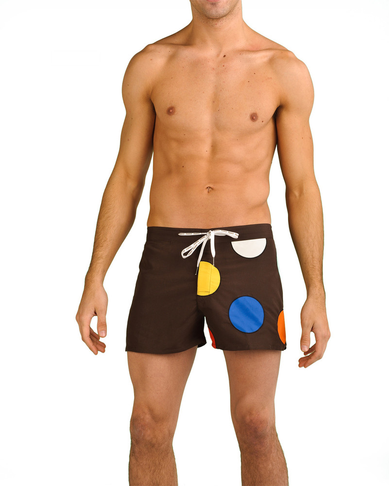 Our Dots swimwear is comfortable, fun, and stylish. Get noticed at the beach or the pool in our flirty Shortboard style.