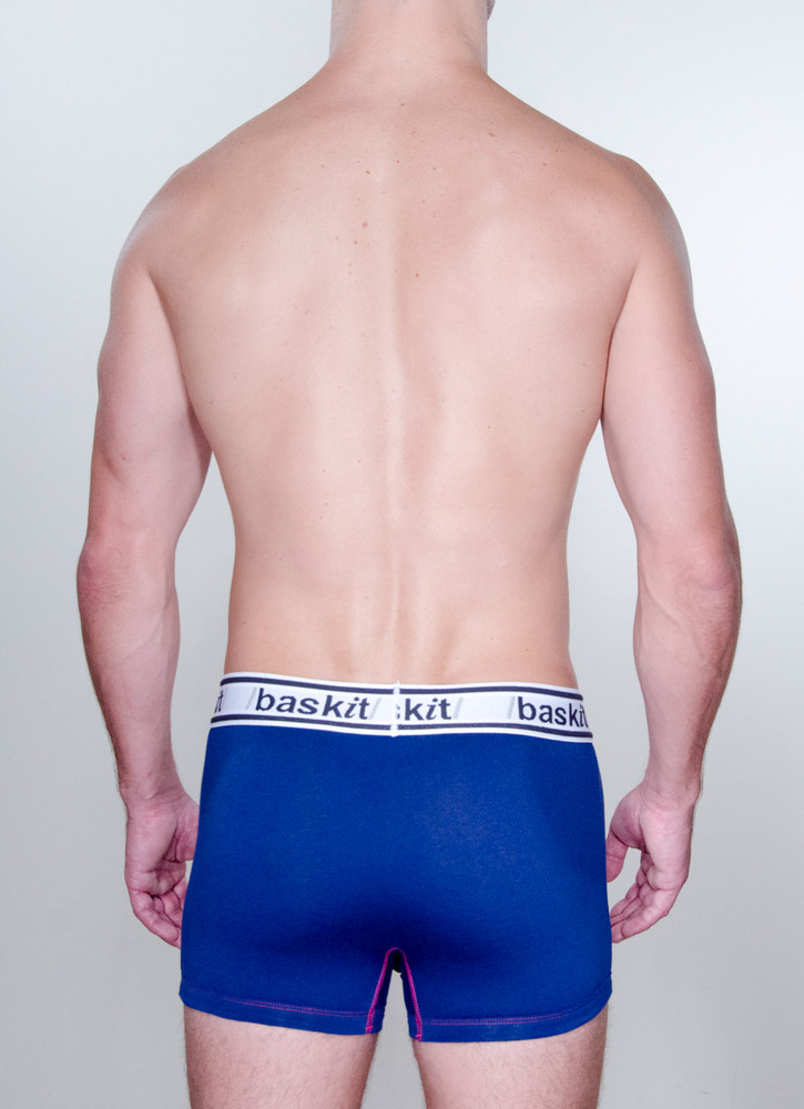 Baskit Light Trunk in midnight blue color back.