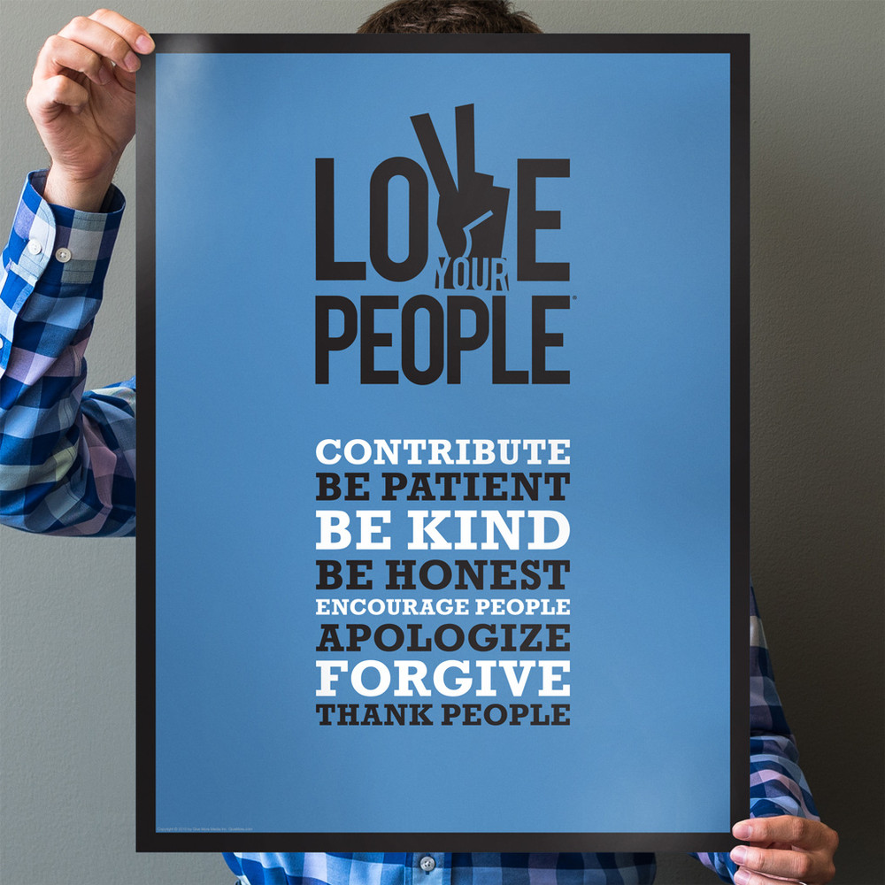 Love Your People 18 in. x 24 in. Poster (blue)