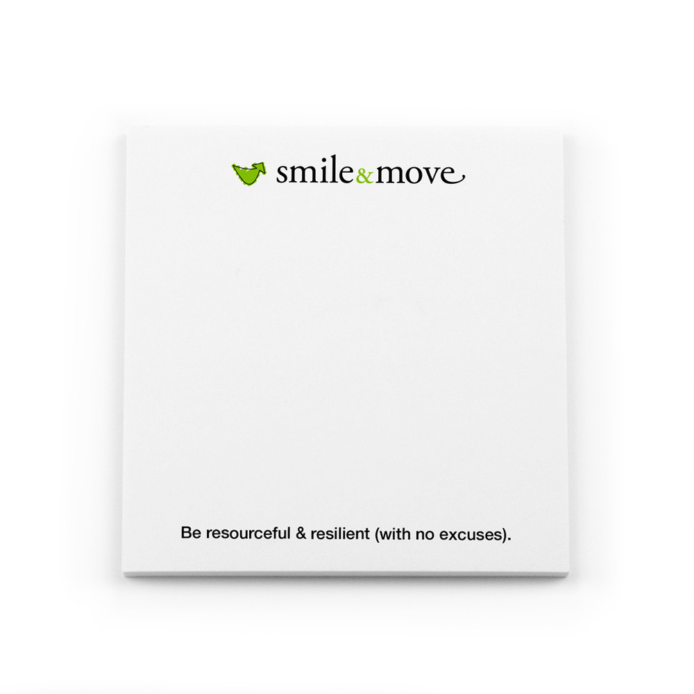 Smile & Move Post-it Notes