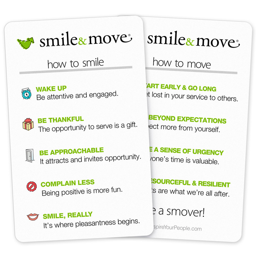 Smile & Move Pocket Cards (10 pack)