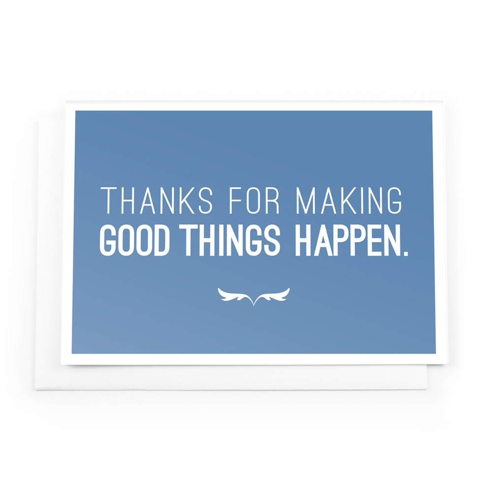 Make Good Things Happen Cards (Thanks for - blue)
