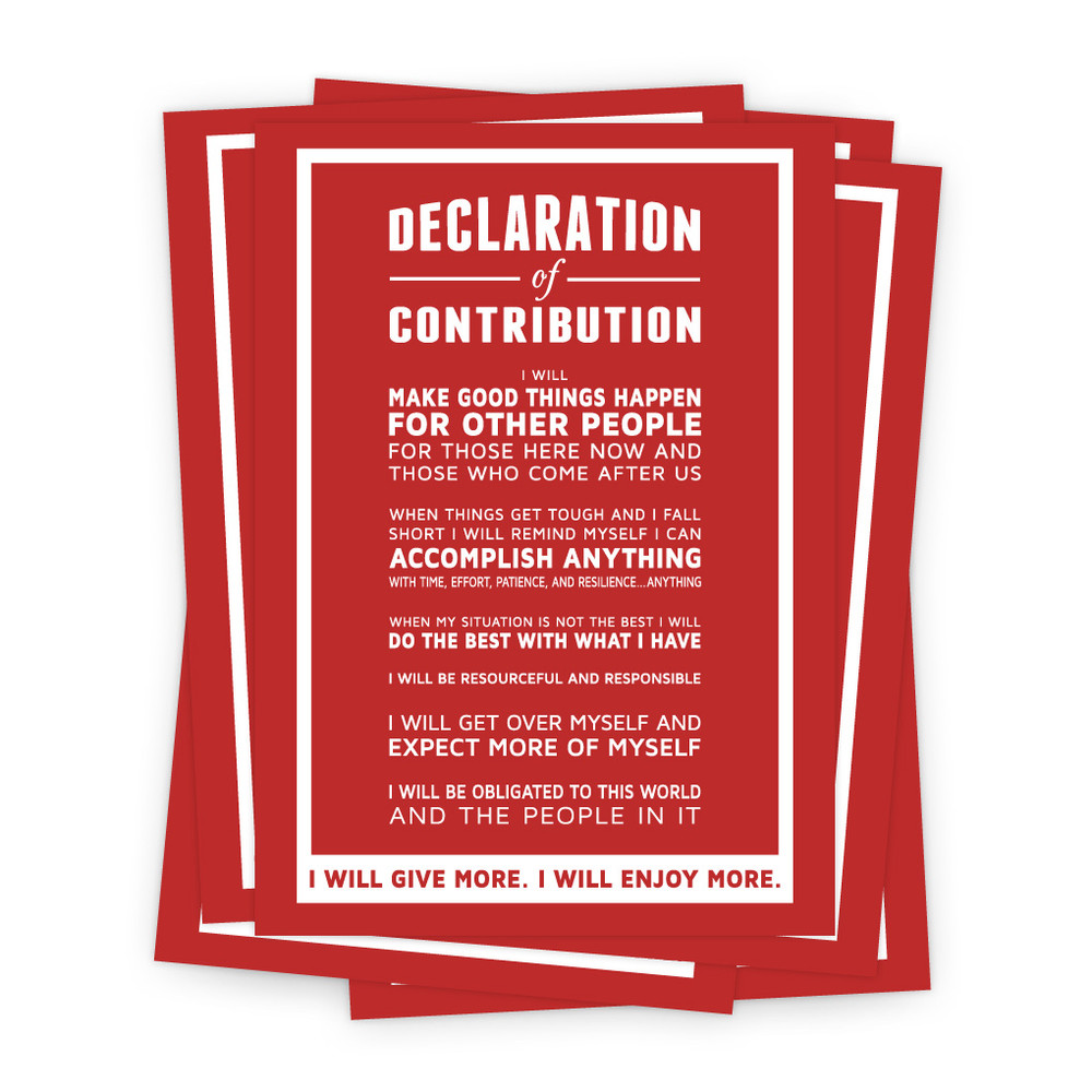 Declaration of Contribution 5 in. x 7 in. Prints - red